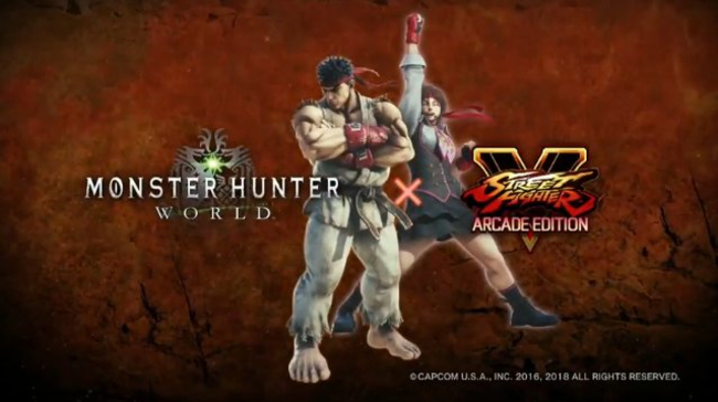 MONSTER HUNTER WORLD OFFICIAL STREET FIGHTER COLLABORATION TRAILER